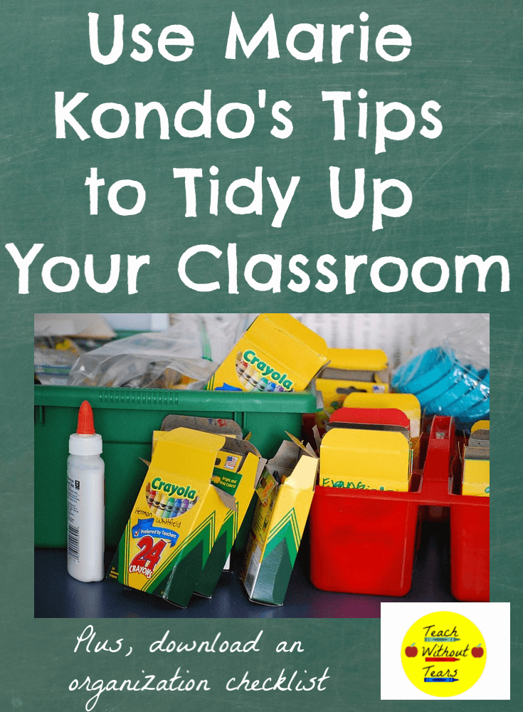 Marie Kondo is a home organization guru. Find out how to use Marie Kondo's tips to tidy up your classroom.