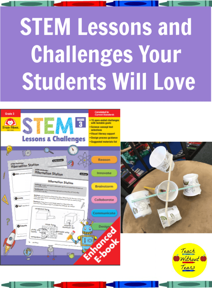Check out the amazing STEM Lessons and Challenges book from Evan-Moor. Every lesson connects to science standards and provides lots of hand-on learning for your students.