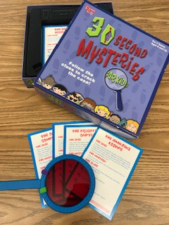 30 Second Mysteries, 5 minute time fillers for your classroom