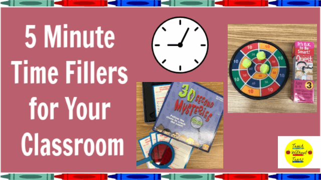 Your lesson ends 5 minutes early. What do you do in that time? Discover some perfect 5 minute time fillers for those few extra minutes in your school day.