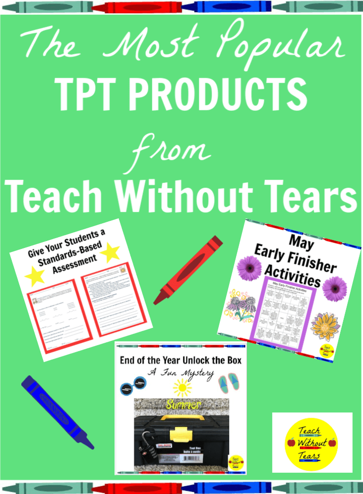 Are you looking for new resources for your classroom? Check out the most popular TPT products from Teach Without Tears. They are teacher-tested and will make planning less stressful.