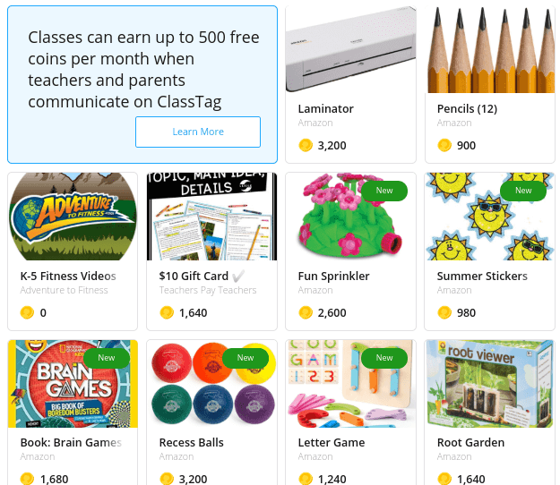You can earn rewards when you use ClassTag for parent communication.