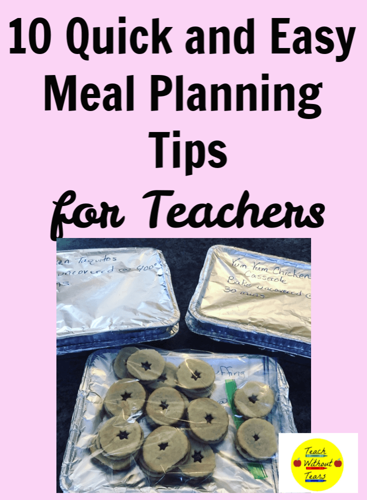 Save time and money with these meal planning tips for teachers.