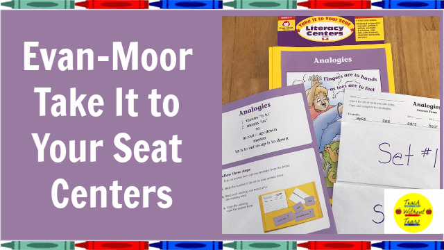 Take It to Your Seat Centers from Evan-Moor will save you time and reduce your stress.