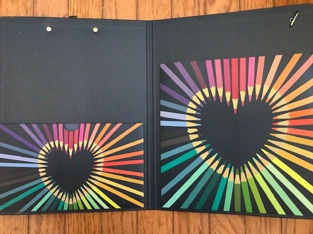 The pockets inside the Erin Condren clipfolio will keep you organized.