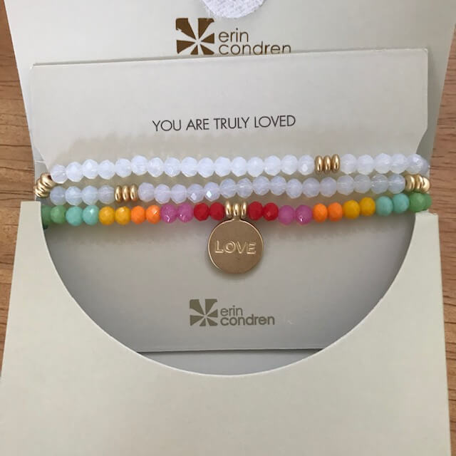 Show a teacher they're loved with this stackable bracelet from Erin Condren.