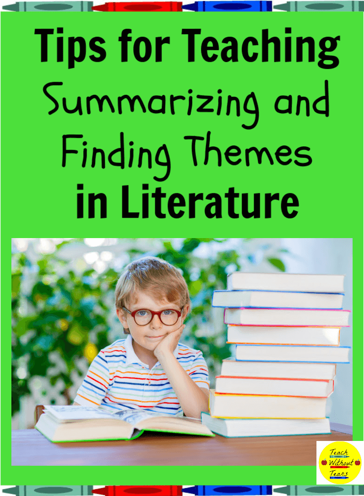 Let's break down the second reading literature standard and discuss some tips for teaching summarizing and finding themes in literature.